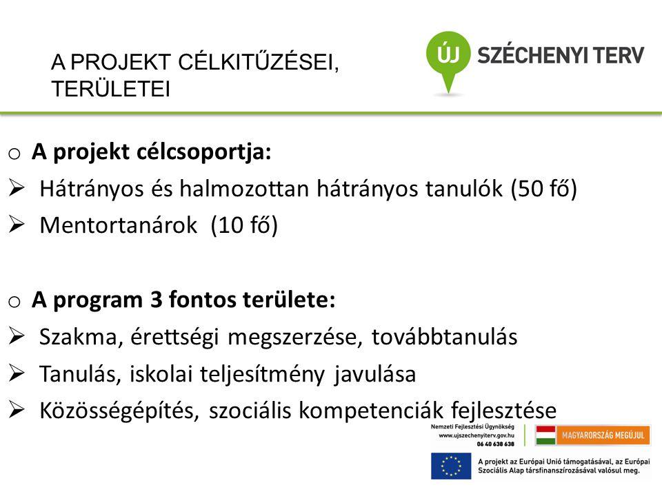 A projekt célcsoportja: