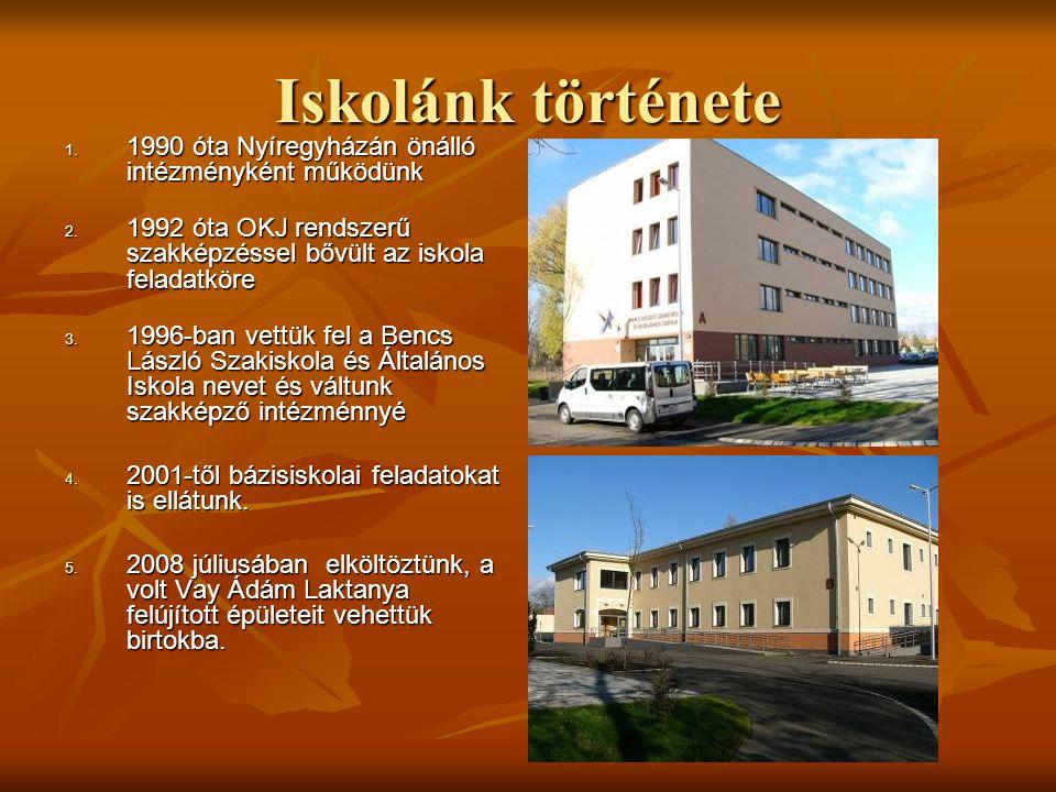 Iskolánk története 1990 óta Nyíregyházán önálló intézményként működünk