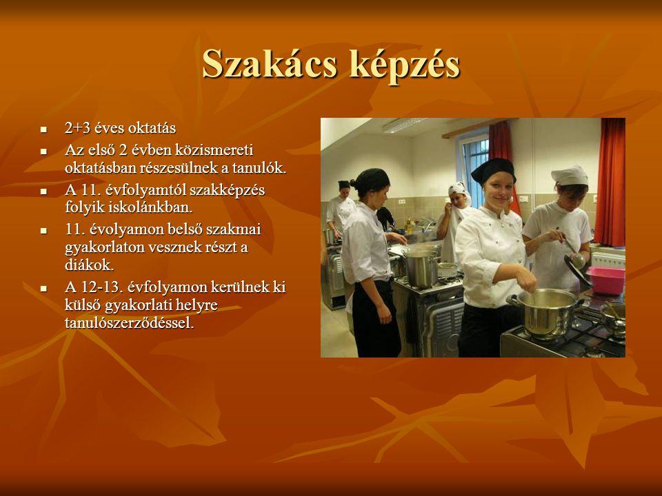 Szakács képzés 2+3 éves oktatás
