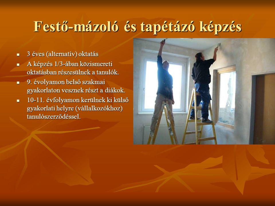 Festő-mázoló és tapétázó képzés