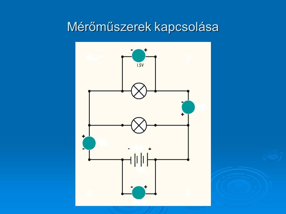 Mérőműszerek kapcsolása