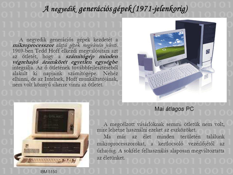 A negyedik generációs gépek (1971-jelenkorig)