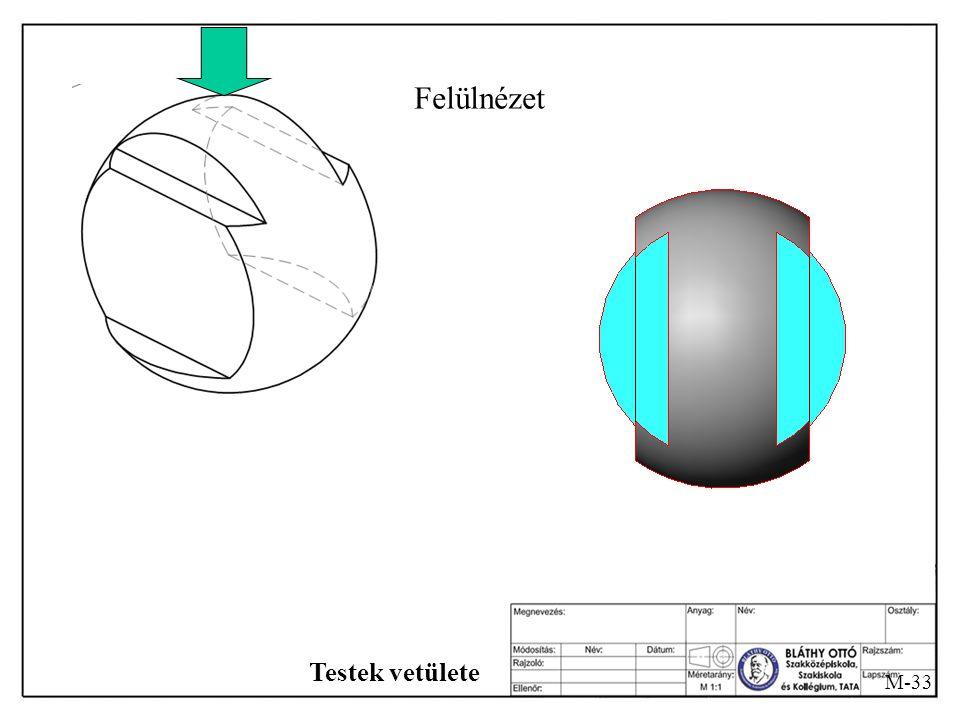 Felülnézet Testek vetülete M-33