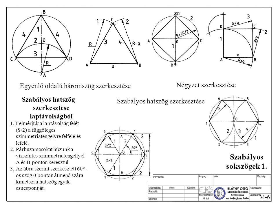 Szabályos sokszögek 1. Négyzet szerkesztése