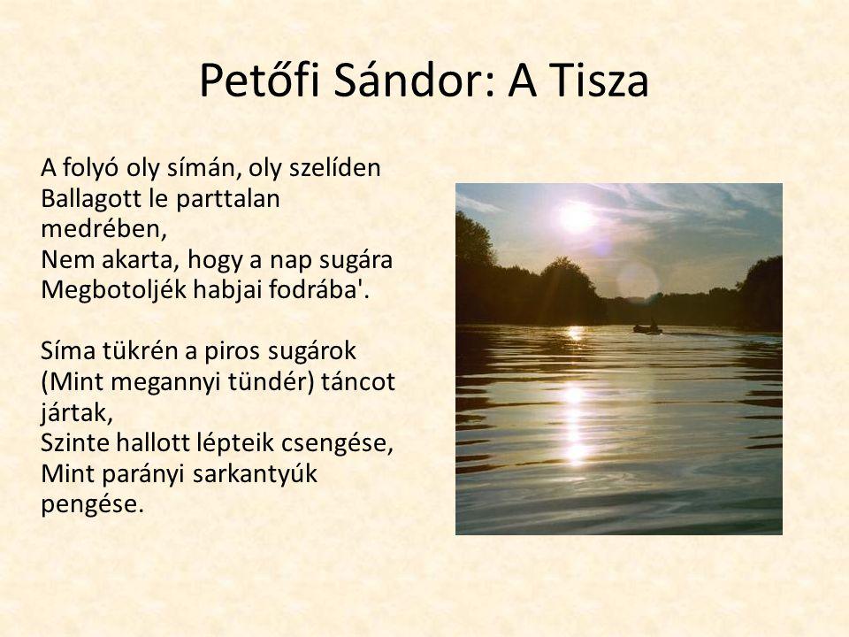 Petőfi Sándor: A Tisza