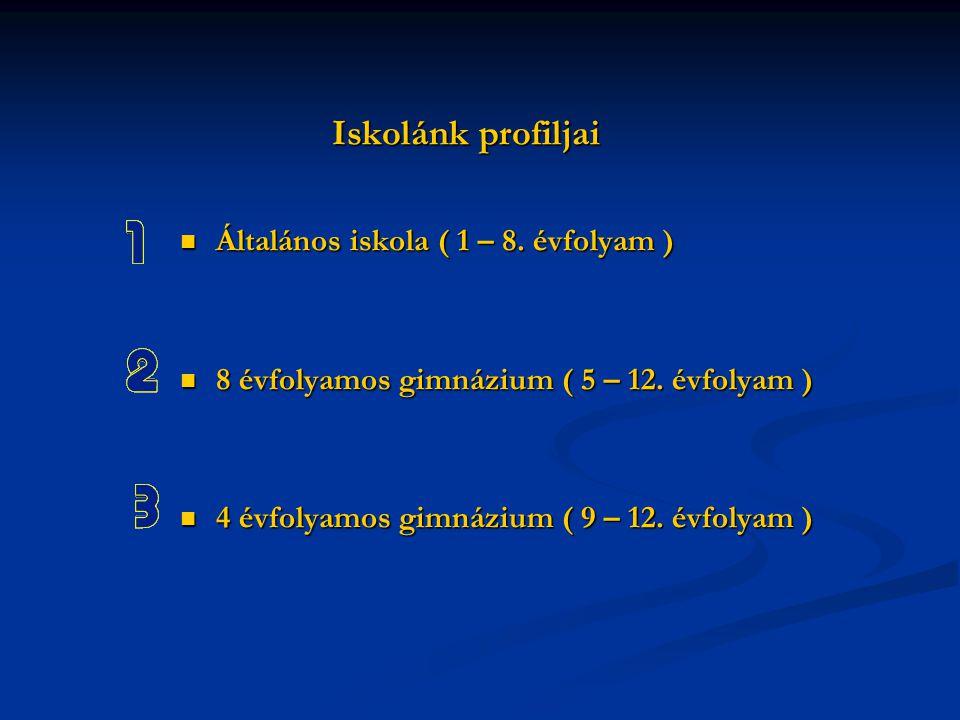 Iskolánk profiljai Általános iskola ( 1 – 8. évfolyam )