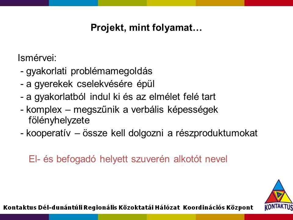 Projekt, mint folyamat…