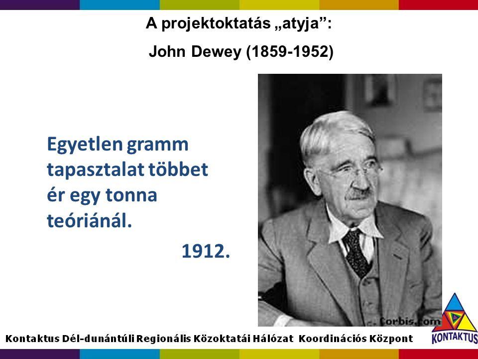 """A projektoktatás """"atyja : John Dewey (1859-1952)"""