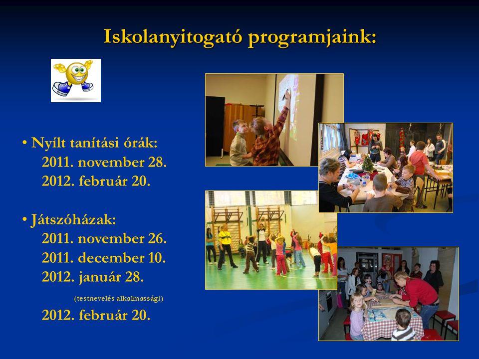 Iskolanyitogató programjaink: