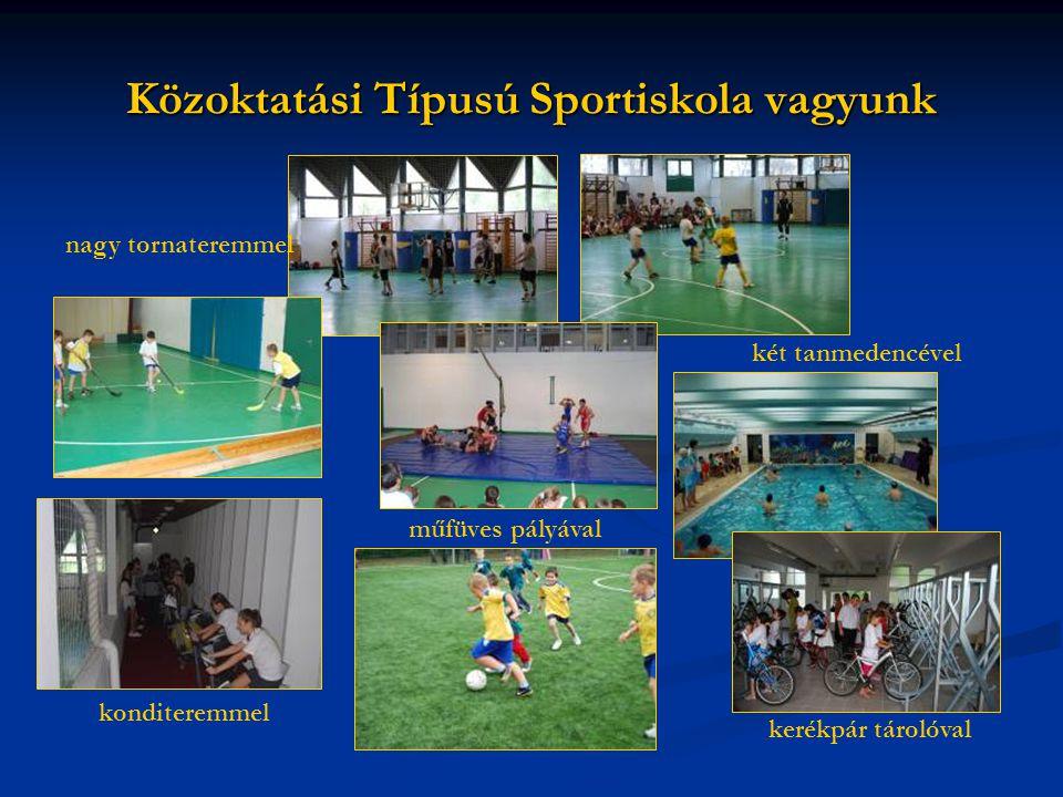 Közoktatási Típusú Sportiskola vagyunk
