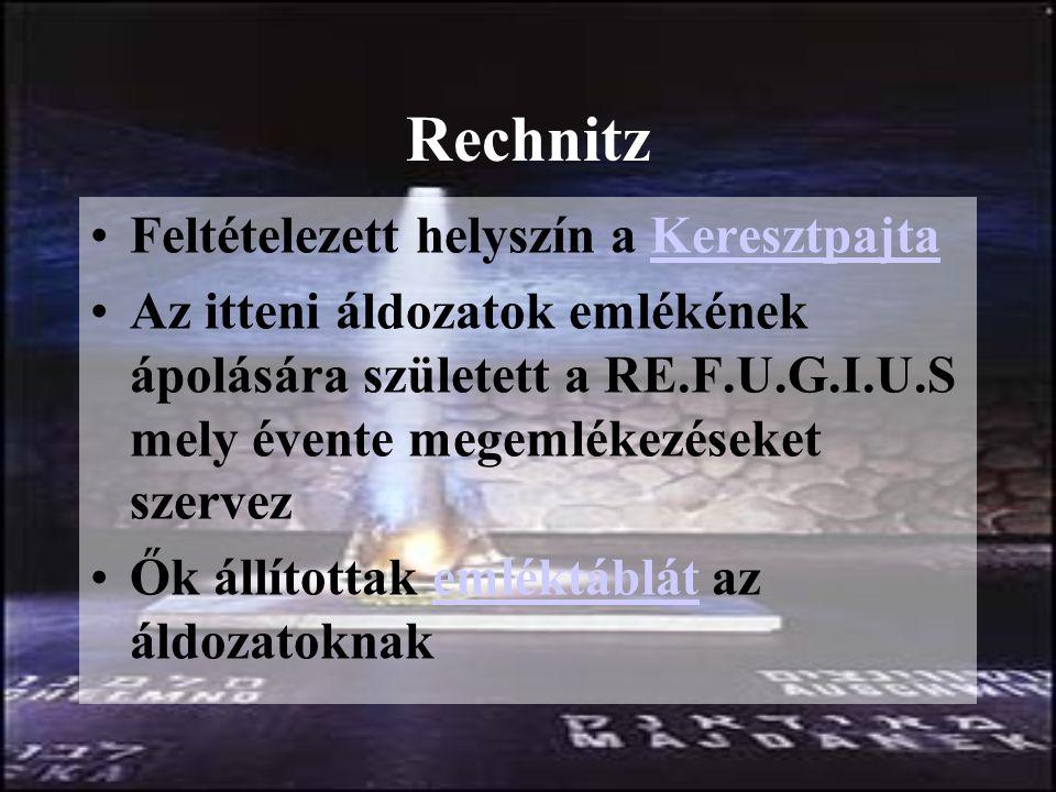 Rechnitz Feltételezett helyszín a Keresztpajta