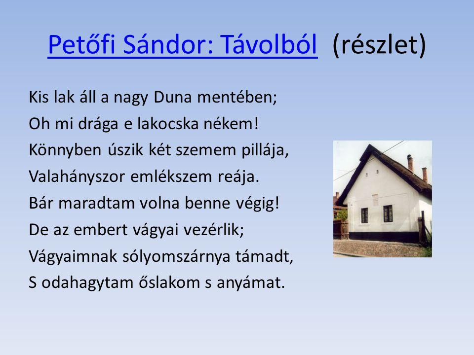 Petőfi Sándor: Távolból (részlet)