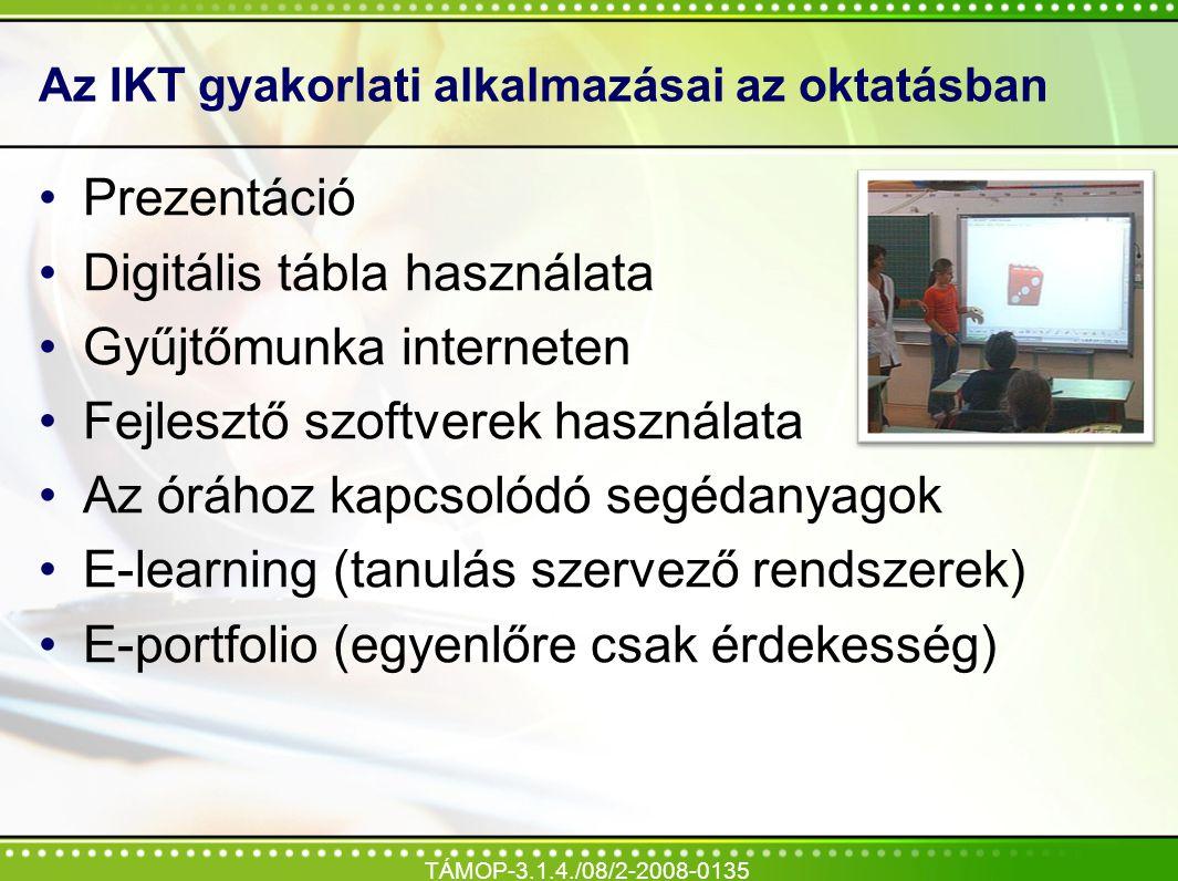 Az IKT gyakorlati alkalmazásai az oktatásban
