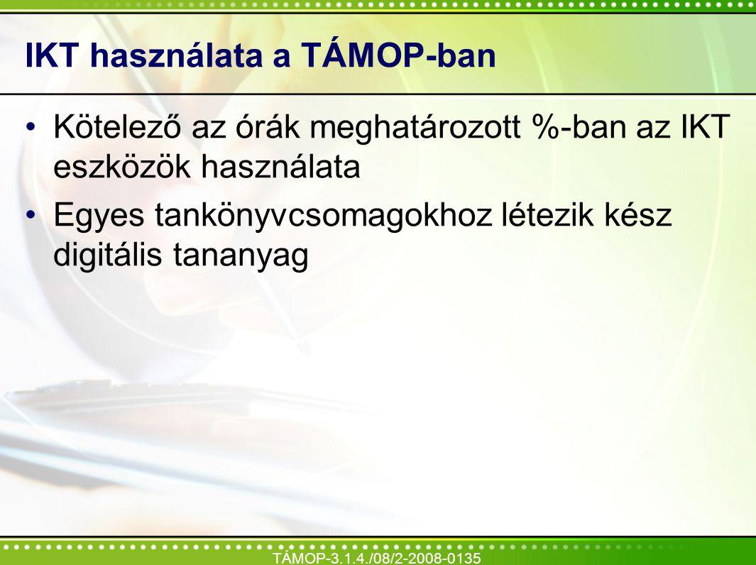 IKT használata a TÁMOP-ban
