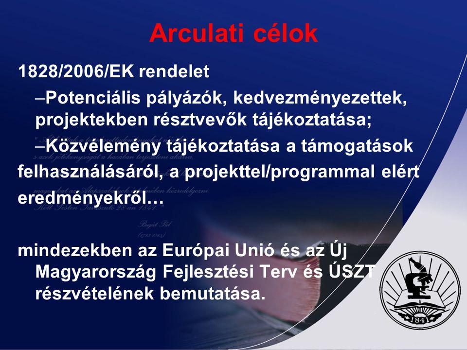 Arculati célok 1828/2006/EK rendelet