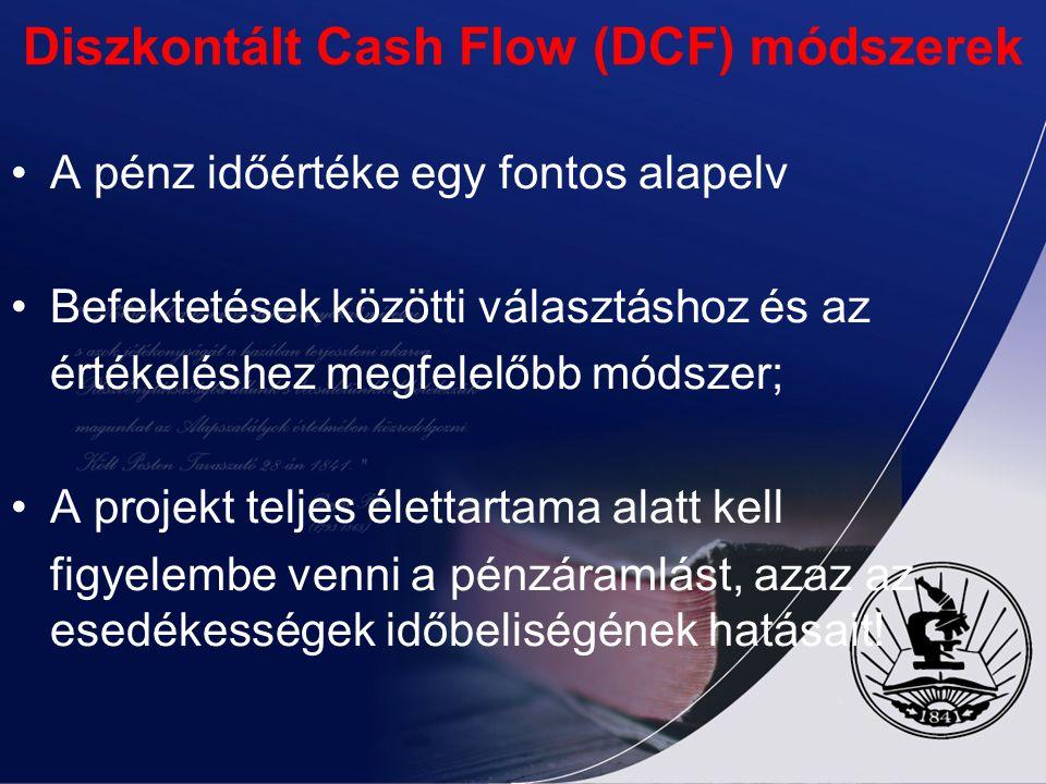 Diszkontált Cash Flow (DCF) módszerek