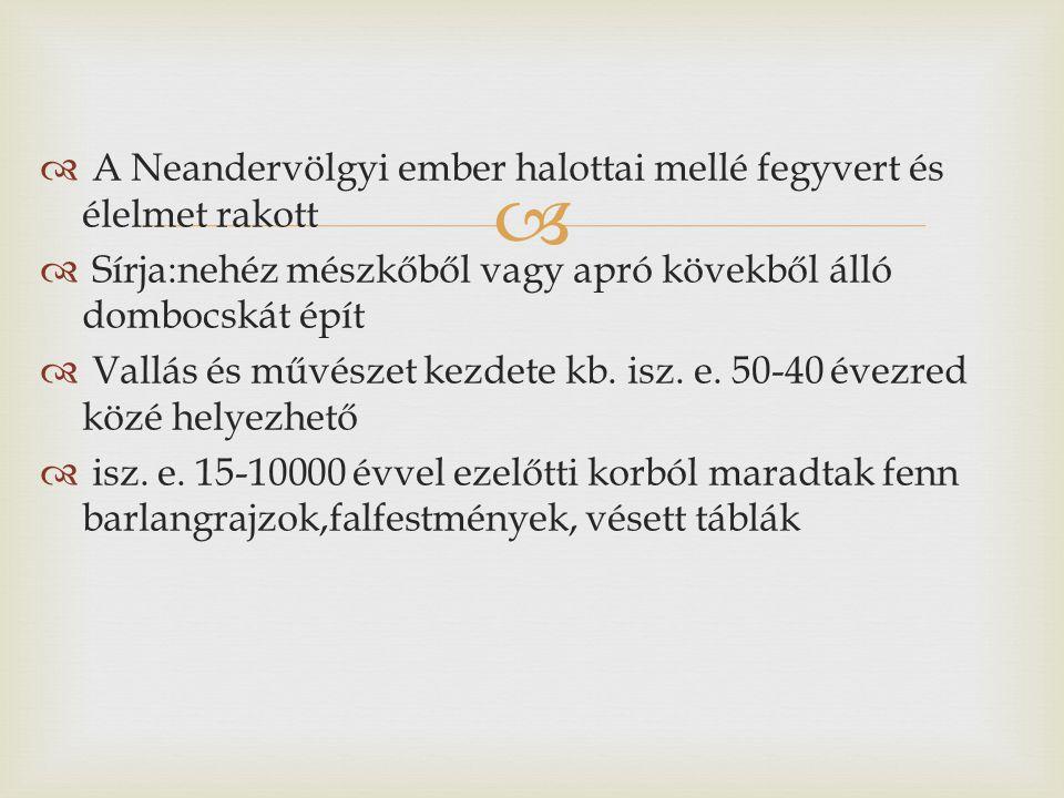 A Neandervölgyi ember halottai mellé fegyvert és élelmet rakott
