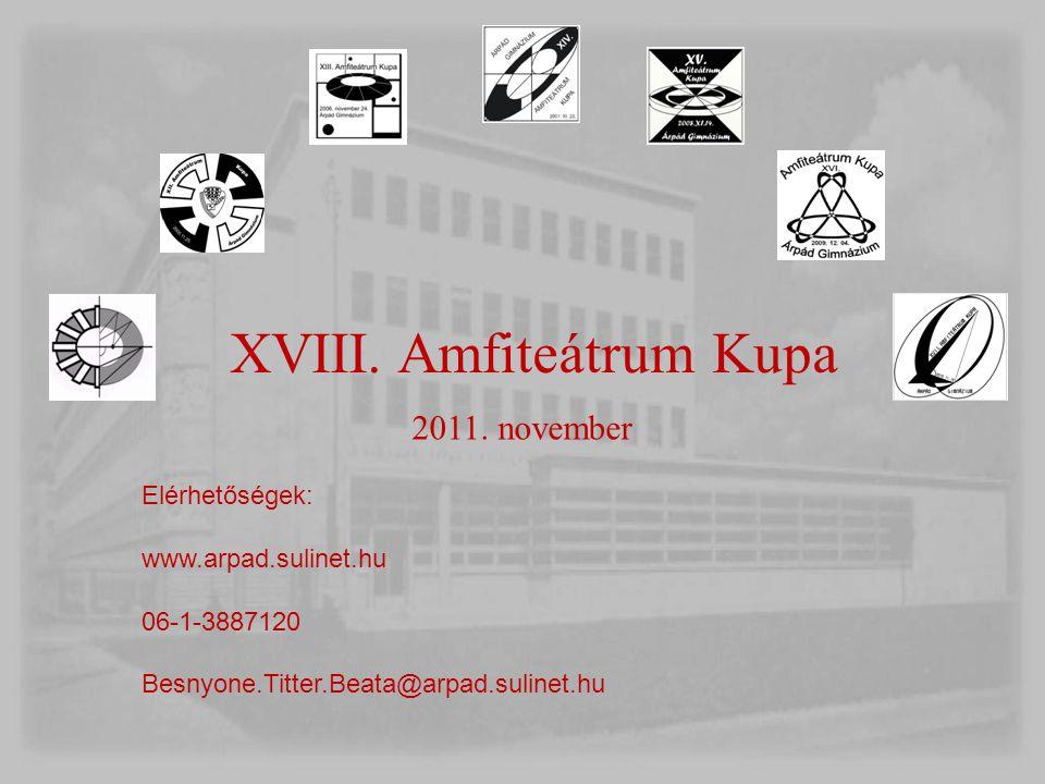 XVIII. Amfiteátrum Kupa