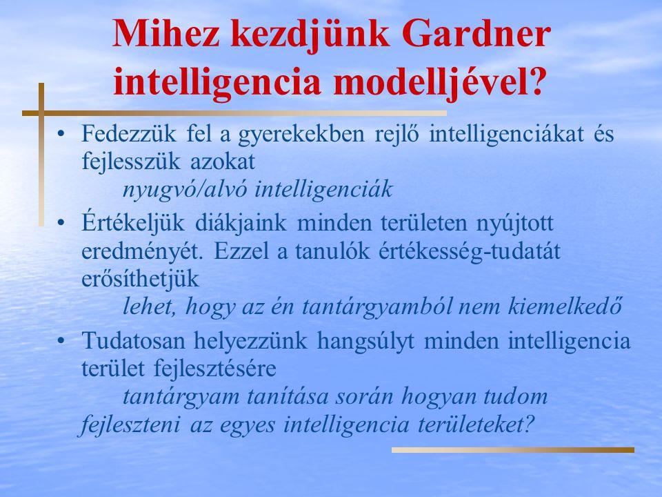 Mihez kezdjünk Gardner intelligencia modelljével
