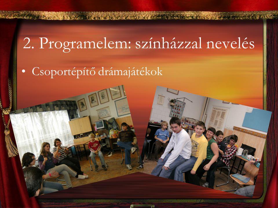 2. Programelem: színházzal nevelés