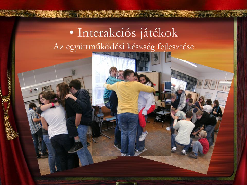 Interakciós játékok Az együttműködési készség fejlesztése