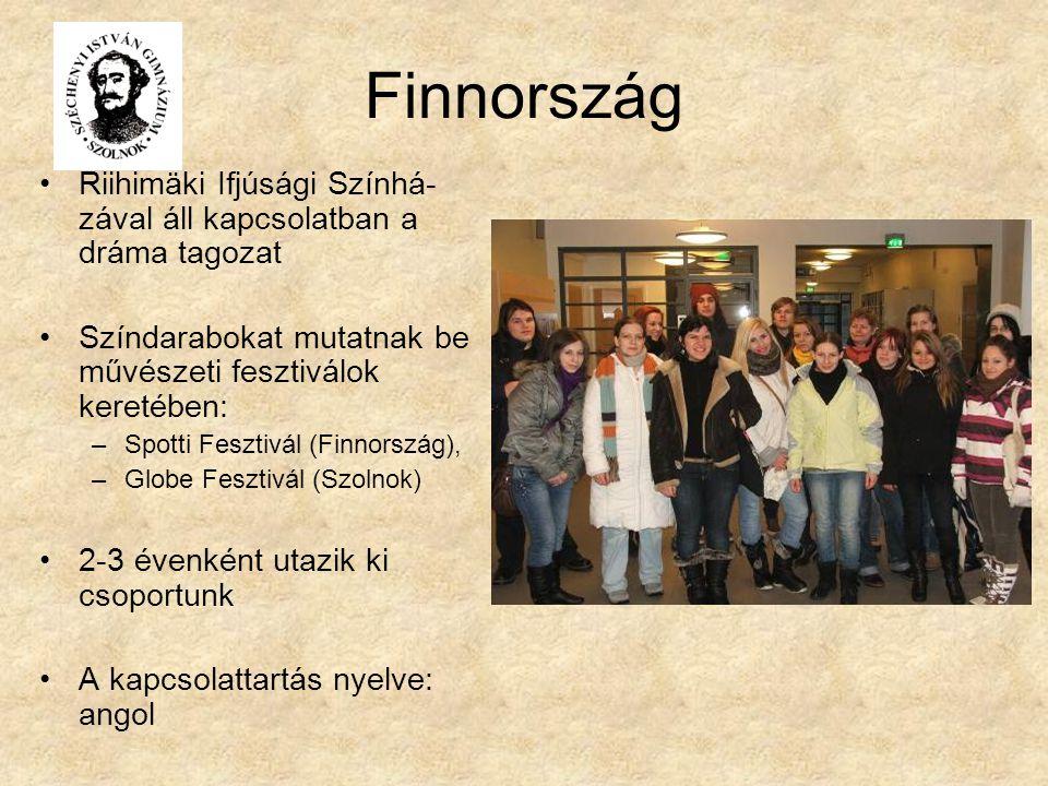 Finnország Riihimäki Ifjúsági Színhá-zával áll kapcsolatban a dráma tagozat. Színdarabokat mutatnak be művészeti fesztiválok keretében: