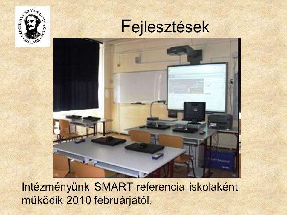 Fejlesztések Intézményünk SMART referencia iskolaként működik 2010 februárjától.