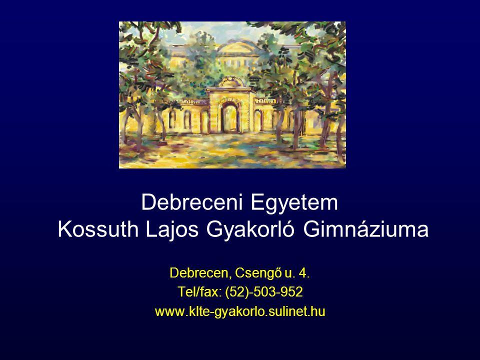 Debreceni Egyetem Kossuth Lajos Gyakorló Gimnáziuma