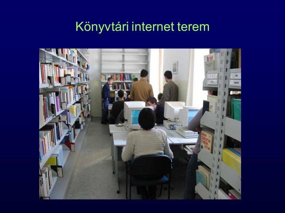 Könyvtári internet terem