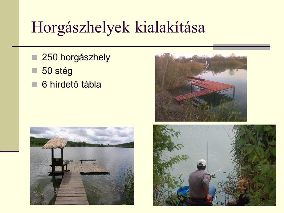 Horgászhelyek kialakítása