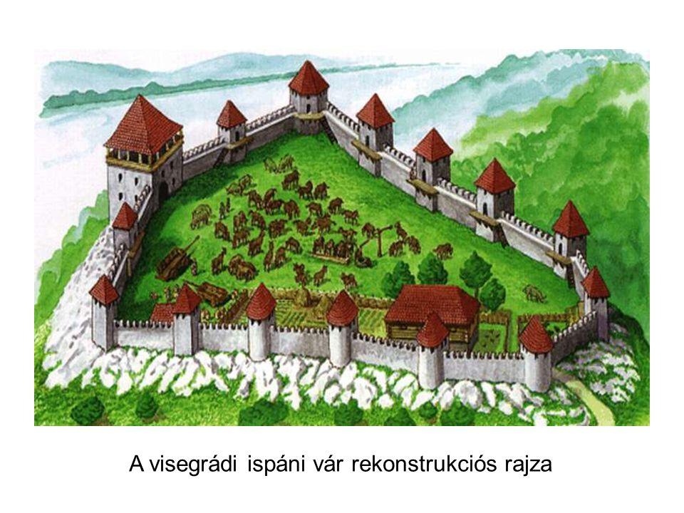 A visegrádi ispáni vár rekonstrukciós rajza