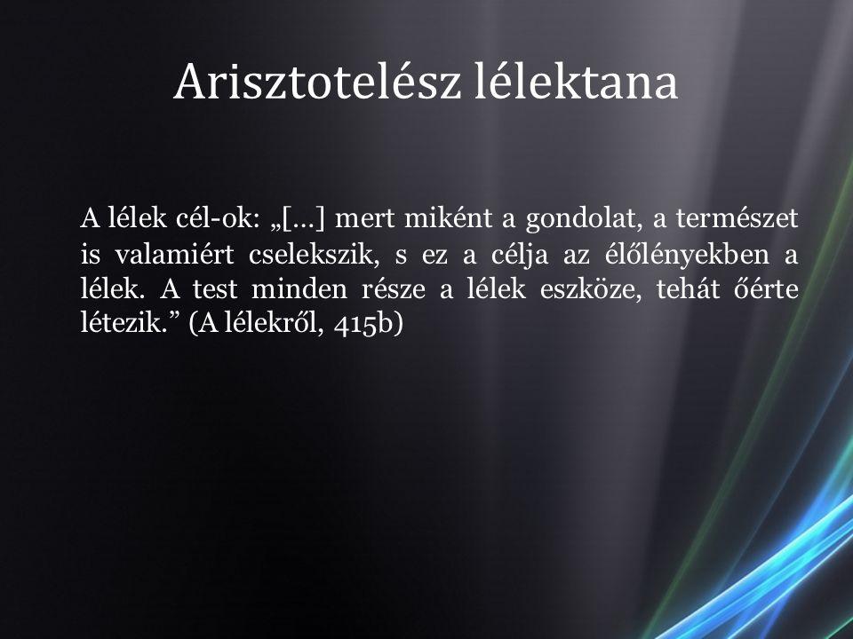 Arisztotelész lélektana