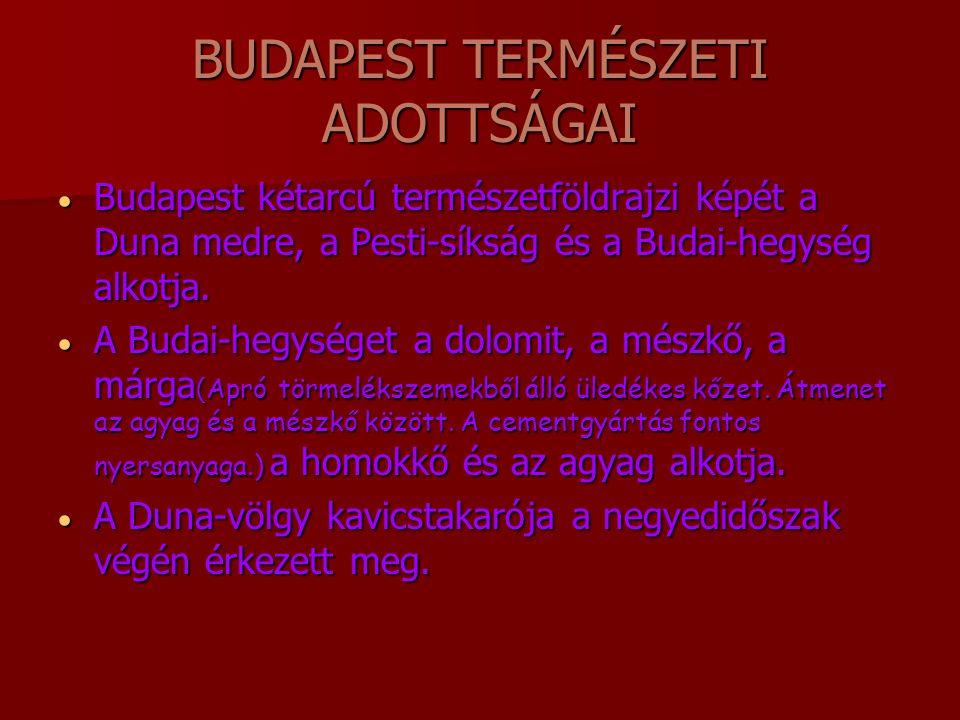 BUDAPEST TERMÉSZETI ADOTTSÁGAI