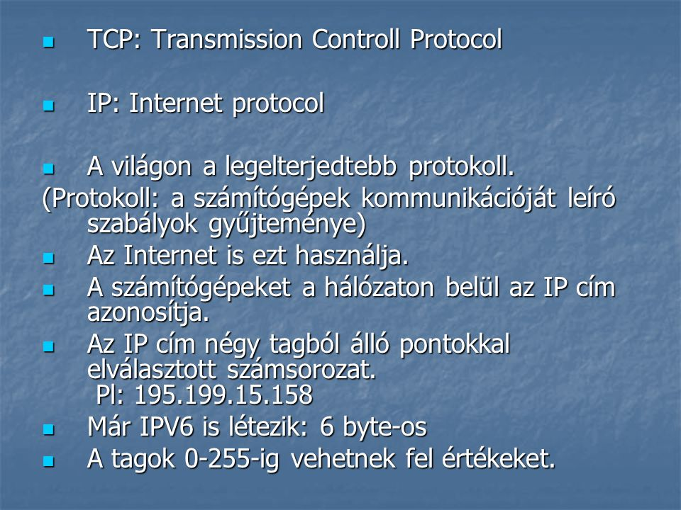 TCP: Transmission Controll Protocol