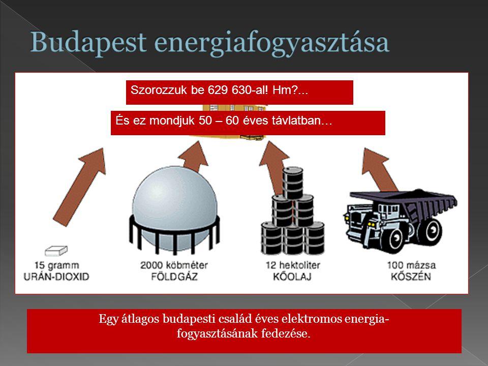 Budapest energiafogyasztása