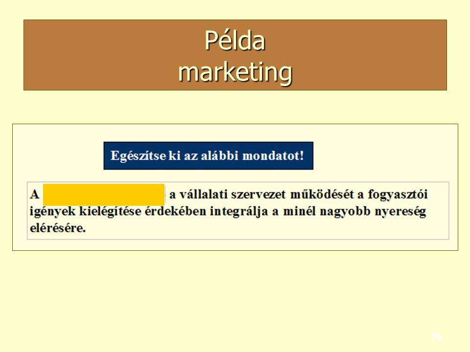 Példa marketing