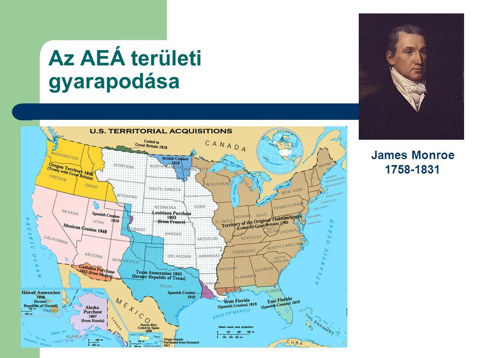 Az AEÁ területi gyarapodása