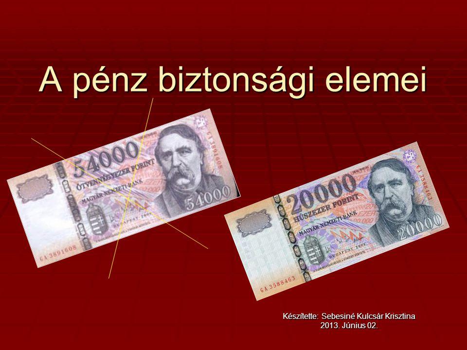 A pénz biztonsági elemei