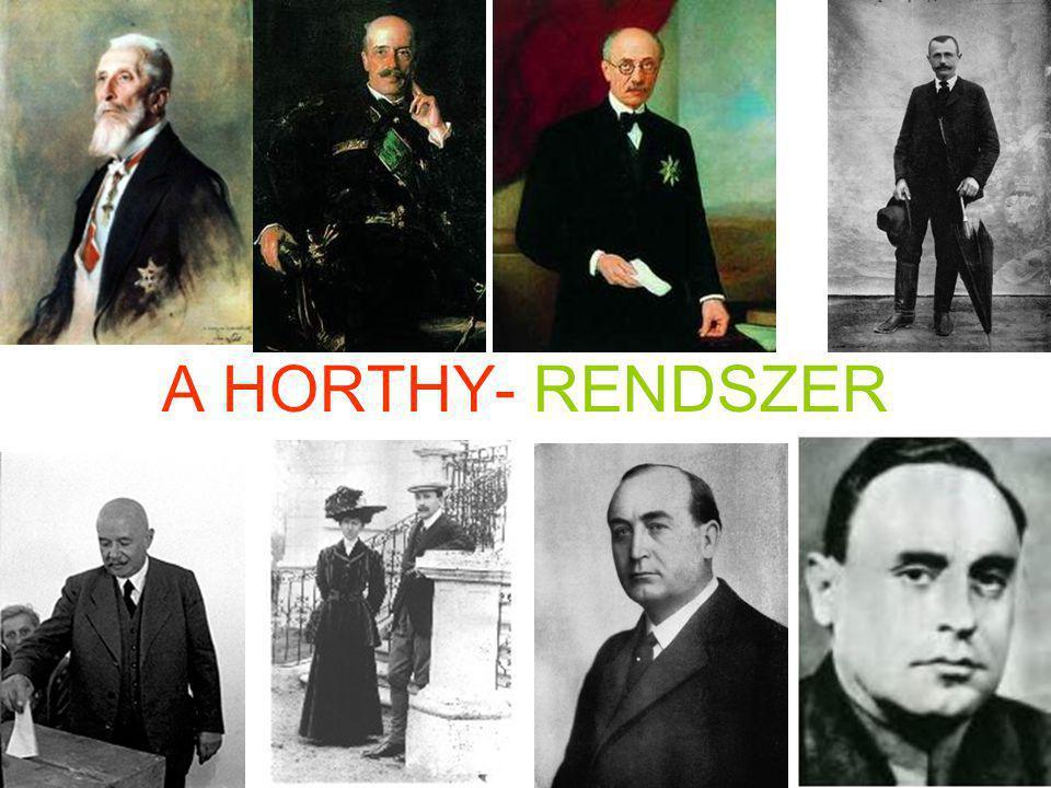 A HORTHY- RENDSZER