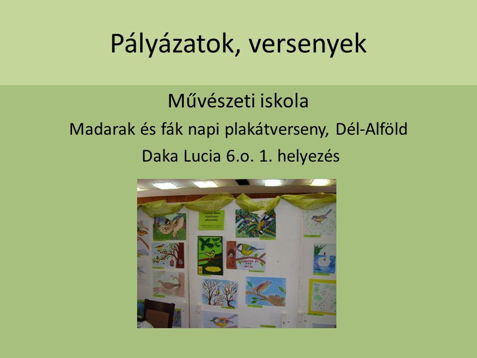 Madarak és fák napi plakátverseny, Dél-Alföld