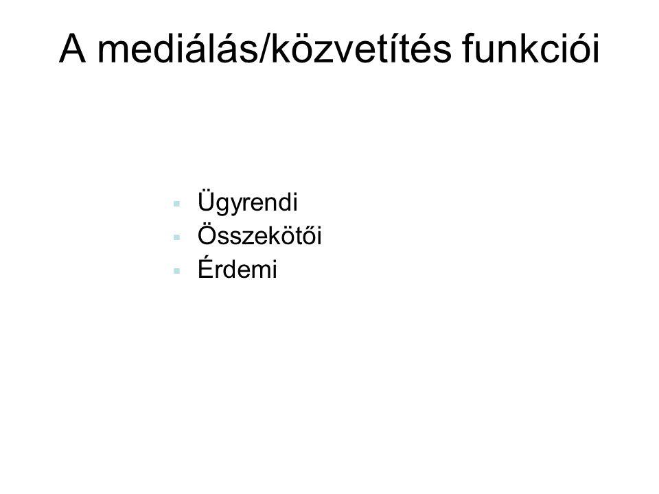 A mediálás/közvetítés funkciói