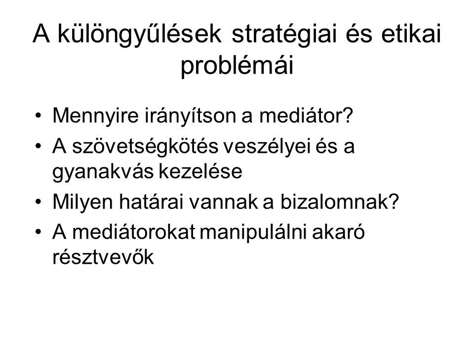 A különgyűlések stratégiai és etikai problémái
