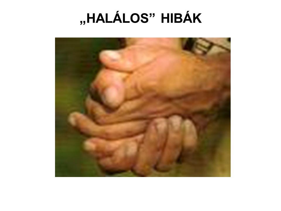 """""""HALÁLOS HIBÁK"""