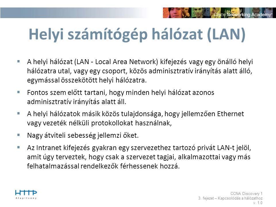 Helyi számítógép hálózat (LAN)