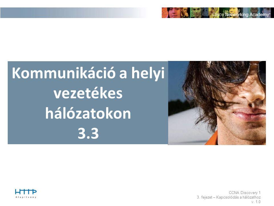 Kommunikáció a helyi vezetékes hálózatokon 3.3