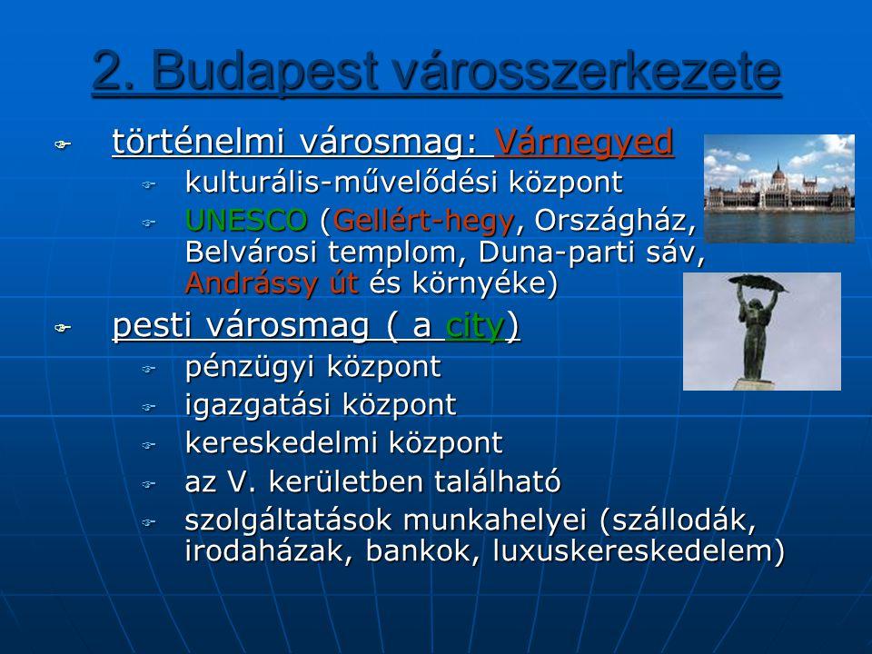 2. Budapest városszerkezete