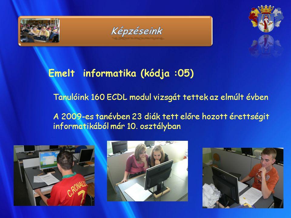 Emelt informatika (kódja :05)
