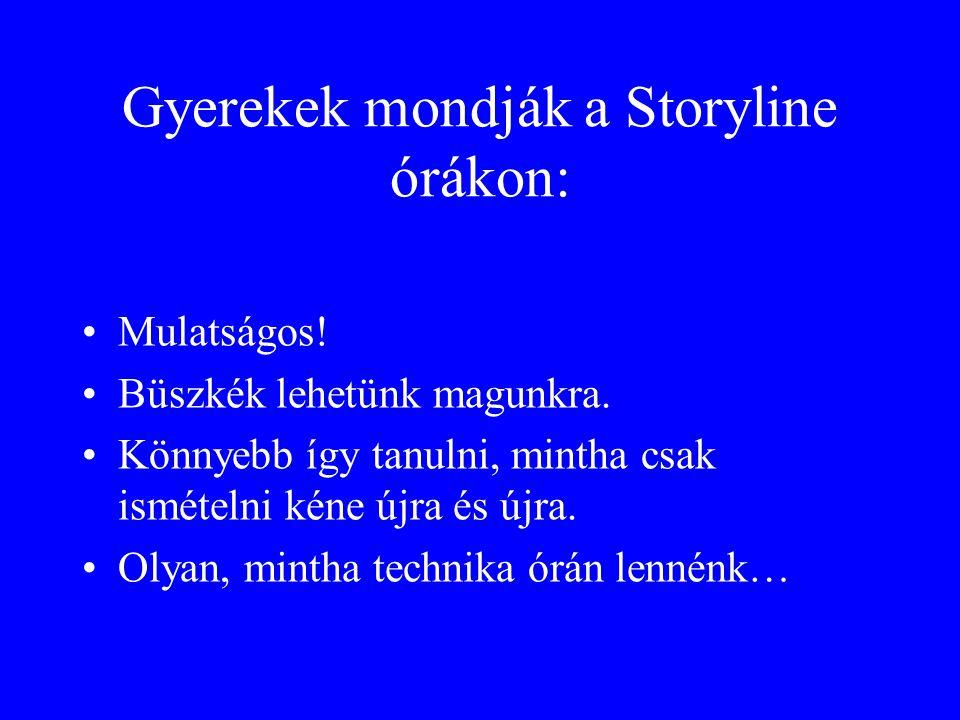 Gyerekek mondják a Storyline órákon: