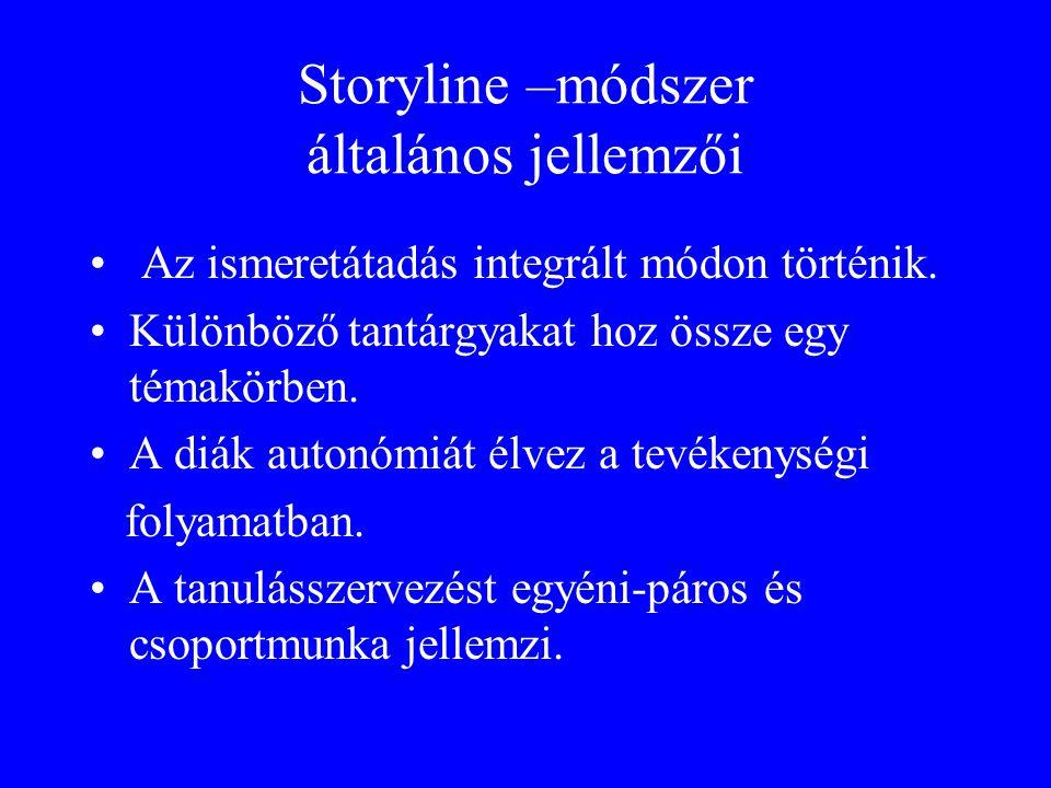 Storyline –módszer általános jellemzői