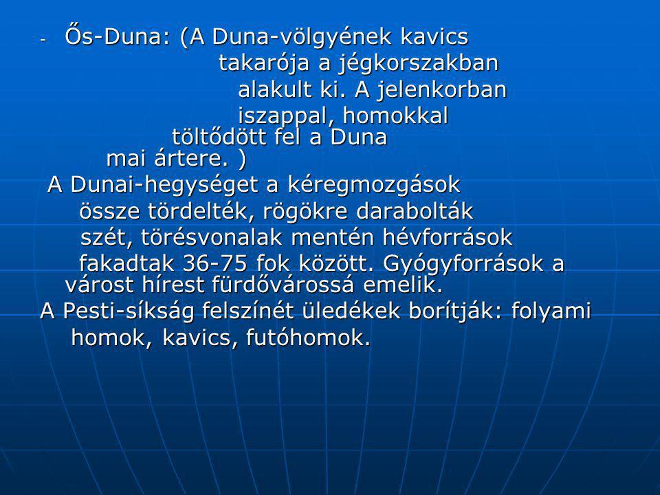 Ős-Duna: (A Duna-völgyének kavics